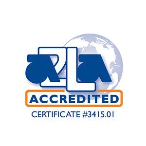 A2LA certified logo