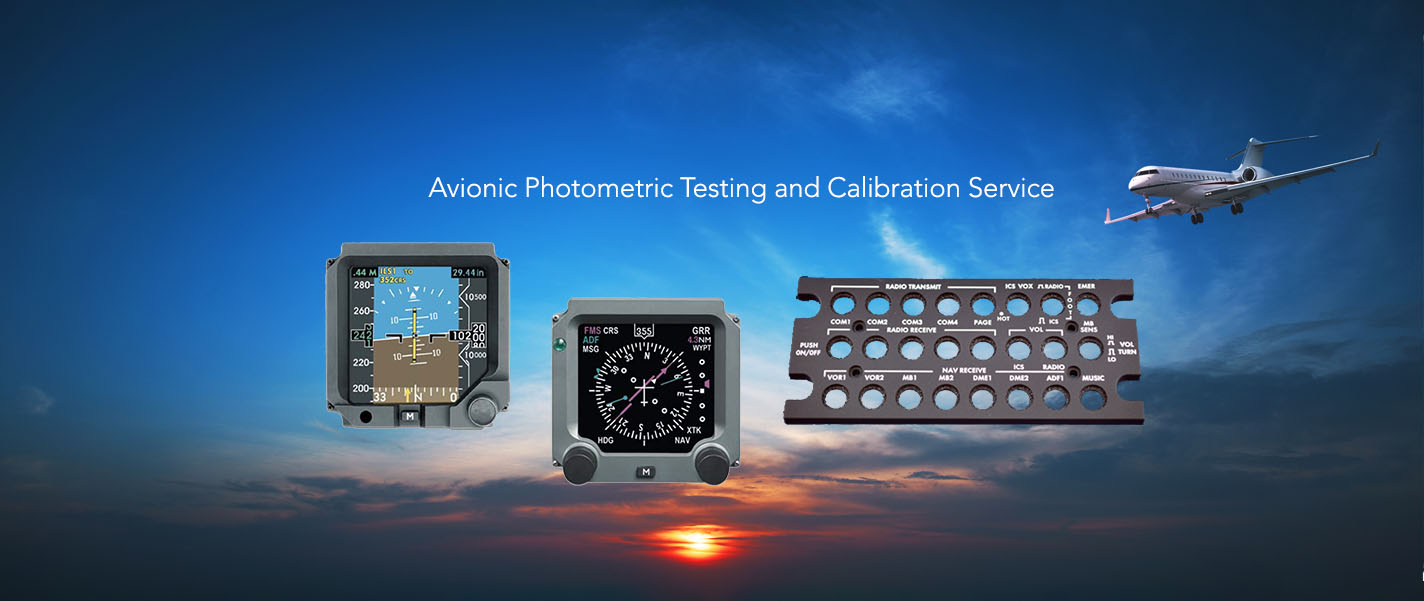Avionic photometric testing services